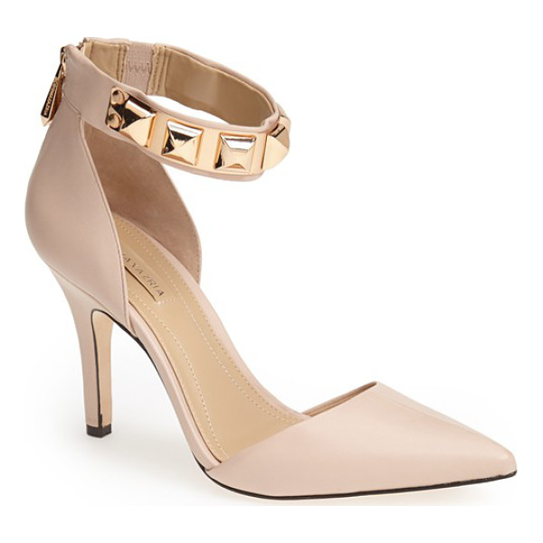 BCBGMAXAZRIA peter pointy toe pump - Polished pyramid studs highlight the bold ankle strap of a...