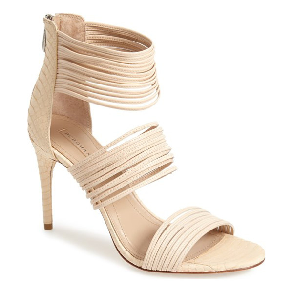 BCBGMAXAZRIA pex sandal - Clusters of slim straps add impeccable modern flair to a...