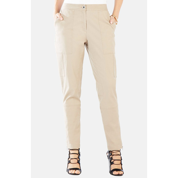 BCBGMAXAZRIA scott relaxed leg stretch cotton pants - Layered utility pockets sleekly line the relaxed legs of...