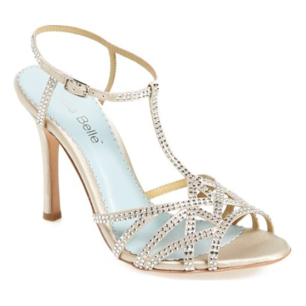 BELLA BELLE gia strappy sandal - Sparkling crystals embellish the straps of an eye-catching...