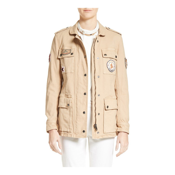 BELSTAFF hoghton cotton drill jacket - A heritage military jacket made from durable cotton-blend...