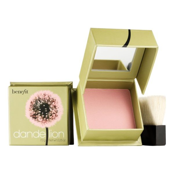 BENEFIT COSMETICS benefit dandelion brightening powder blush - What it is: A pale-pink, long-lasting pressed highlighting...