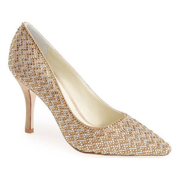 BENJAMIN ADAMS LONDON martinque pointy toe pump - A twinkling array of crystals catches the light on a...