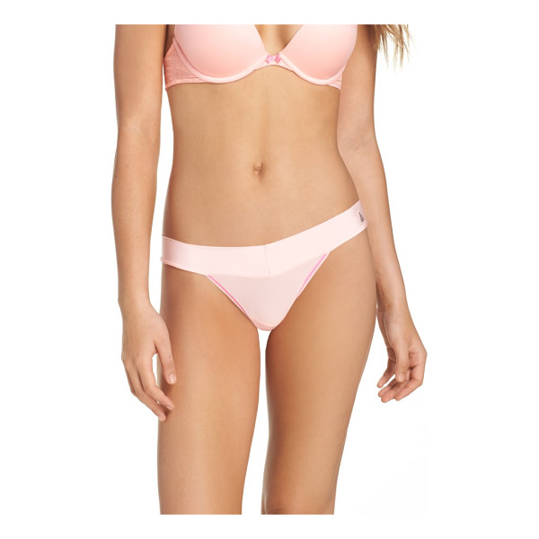 BETSEY JOHNSON forever perfect thong - An everyday thong in smooth microfiber is fashioned with a...