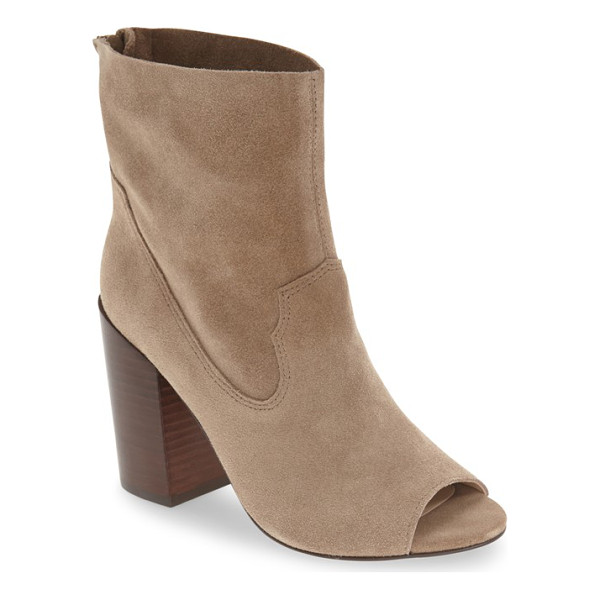 BETTYE MULLER 'waight' peep toe bootie - A flirty peep toe details a minimalist bootie crafted in...