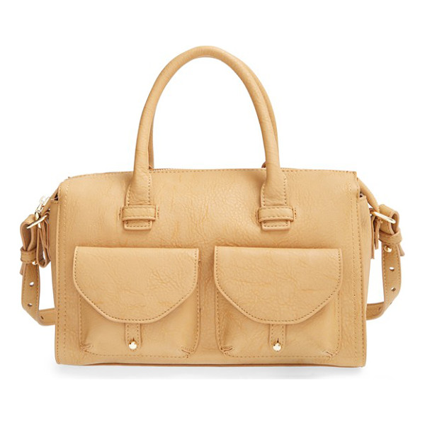 BIG BUDDHA Faux leather satchel - Golden hardware perfectly accents this modern, faux-leather...