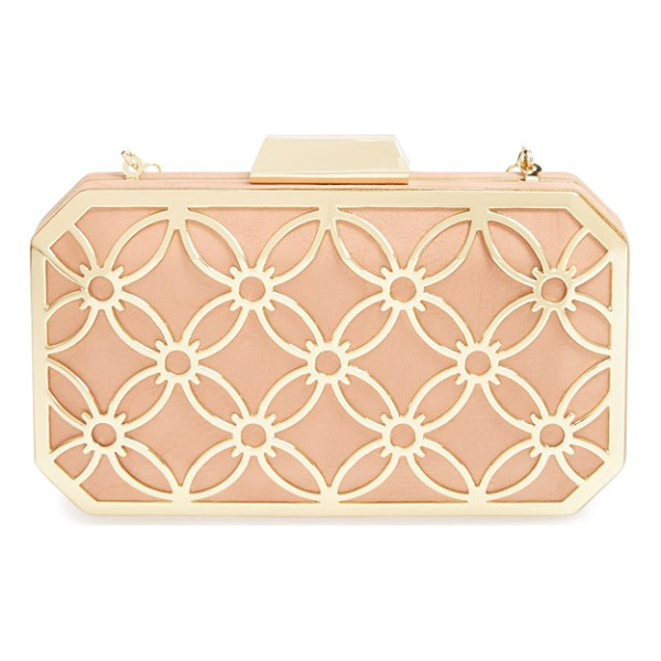 BIG BUDDHA Sweetie box clutch - A gilded, Art Deco-style frame lends vintage glamour to a...