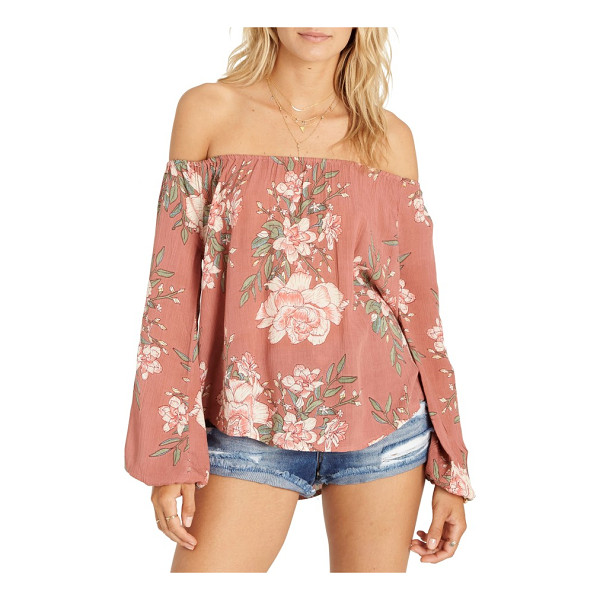 BILLABONG mi amore print off the shoulder top - Show off sun-kissed shoulders in this breezy top that's...