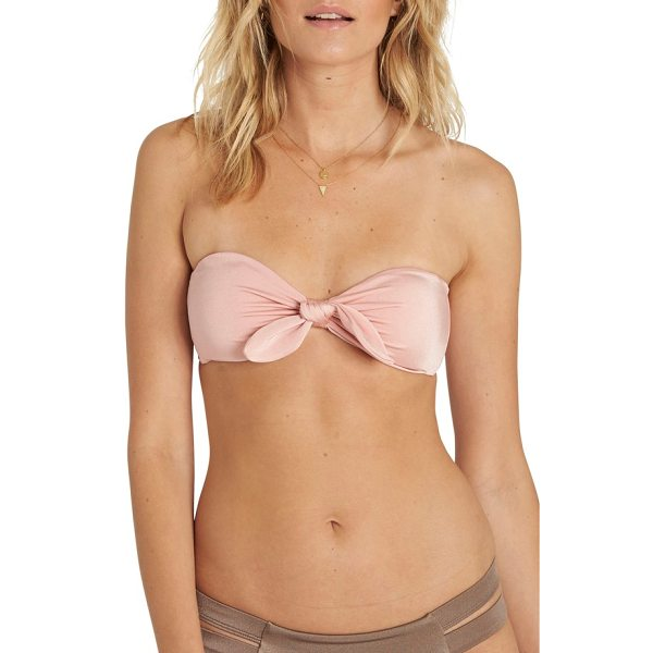 BILLABONG sol searcher bandeau bikini top - A sweet bow centers a simple bandeau top that looks good...