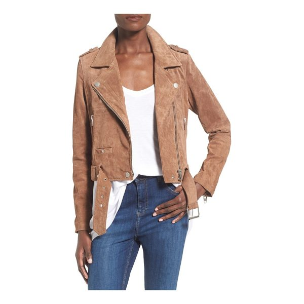 BLANK NYC morning suede moto jacket - Step up your jacket game with a super-fab, moto-inspired...
