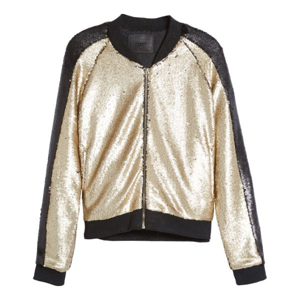 BLANK NYC sequin bomber jacket - Bomber jackets take the stage this season, and none more so...
