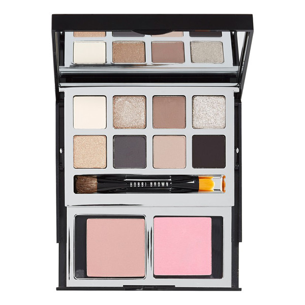 BOBBI BROWN Deluxe eye & cheek palette - This luxe, two-tiered black palette by Bobbi Brown is...