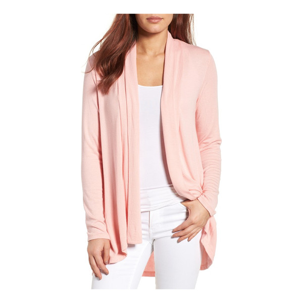 BOBEAU high/low jersey cardigan - A supersoft and flowy cardigan cut from fluid jersey with a...