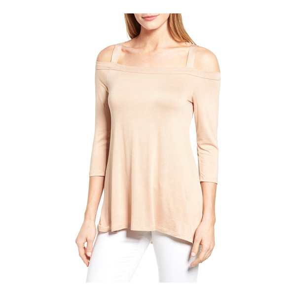 BOBEAU off the shoulder top - An A-line jersey top with graceful drape brings allure to...