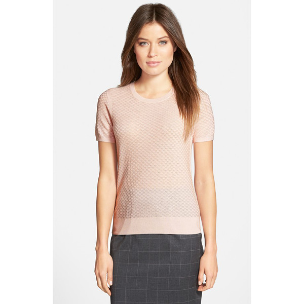 BOSS fabila wool crewneck sweater - Shell stitching creates delicate texture for a short-sleeve...