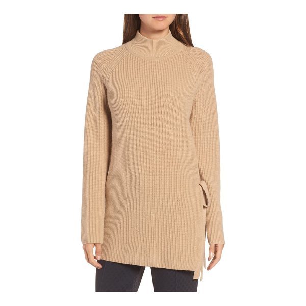 BOSS filda tie side sweater - A pullover knit from a lusciously cozy blend of wool, yak...