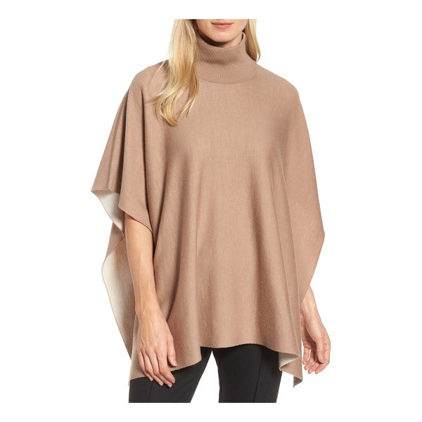 BOSS lilja wool poncho - An effortless layer of warmth, this turtleneck poncho is...