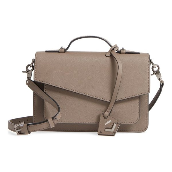BOTKIER cobble hill leather crossbody bag - An asymmetrical flap and gilded hardware accents add modern...