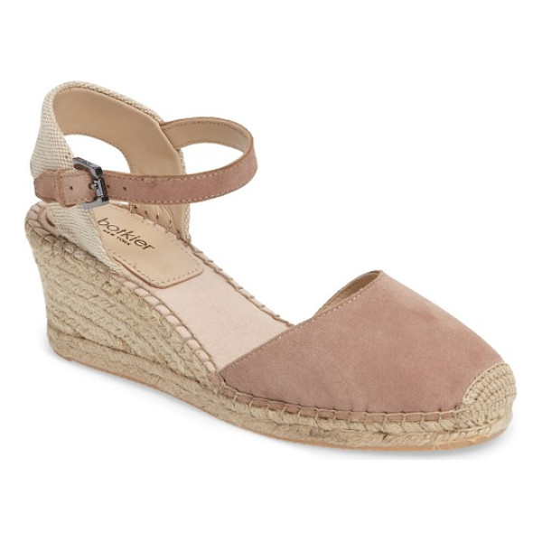 BOTKIER elia espadrille wedge sandal - Ropy espadrille trim wraps the wedge and platform of a...