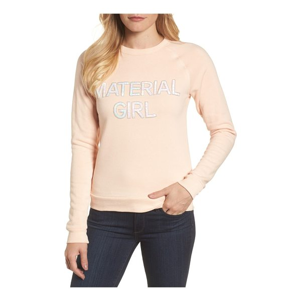 BOW & DRAPE material girl sweatshirt - Add a bit of '80s attitude to your look with a cozy...