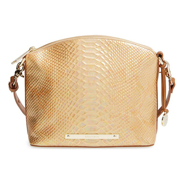 BRAHMIN Mini duxbury crossbody bag - Extravagant snake embossing brings textural intrigue to a...