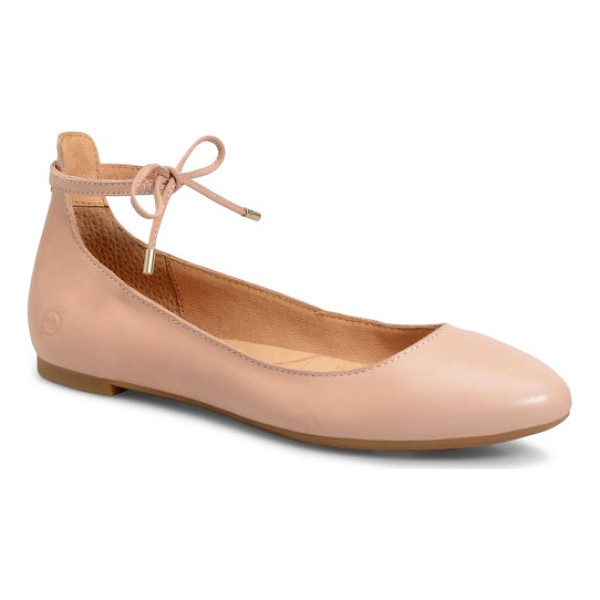 BRN b?rn kharen wraparound lace flat - Crafted from full-grain leather with a generously cushioned...