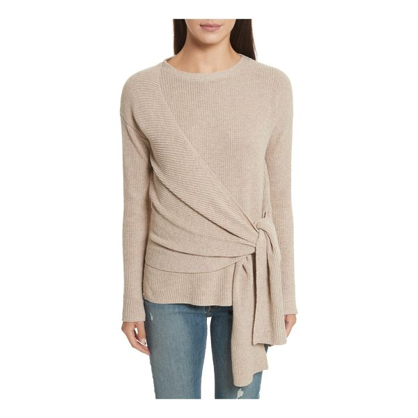 BROCHU WALKER greys wrap sweater - Wide sashes swathe the body in cozy, cashmere-tinged...