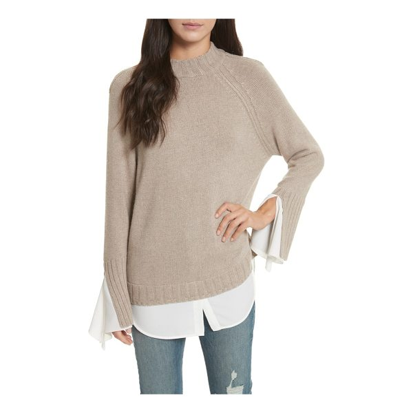 BROCHU WALKER remi layered pullover - A high/low shirttail hem creates layered illusion on a cozy...