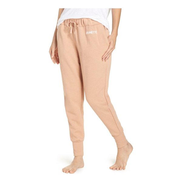 BRUNETTE THE LABEL brunette jogger pants - Relax and reset from the day in soft, slouchy jogger pants.