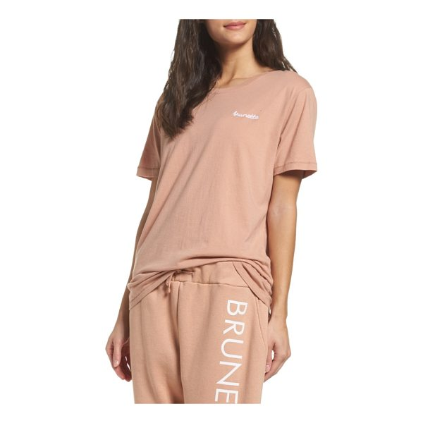 BRUNETTE THE LABEL brunette tee - No matter your hair color, you'll feel comfy and cozy in...