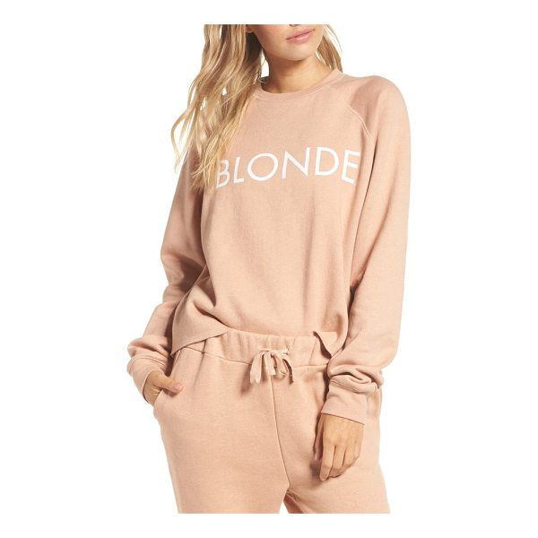 BRUNETTE THE LABEL middle sister blonde sweatshirt - No matter your hair color, you'll feel comfy and cozy in...