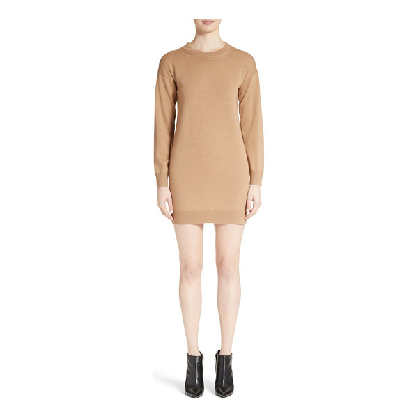 BURBERRY alewater elbow patch merino wool dress - Check-patterned elbow patches add preppy, heritage appeal...