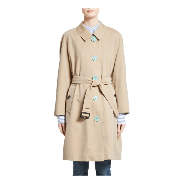 BURBERRY brinkhill trench coat - Pastel buttons add a pop of fresh color to a timeless...