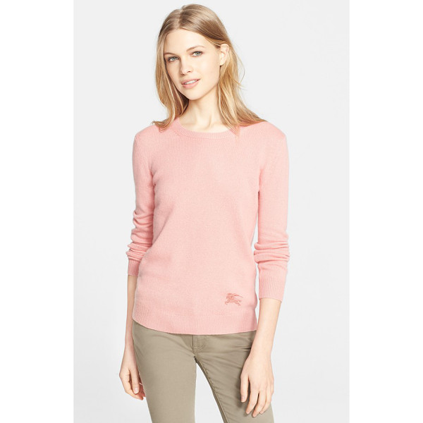 BURBERRY BRIT cashmere blend crewneck sweater - Cashmere is blended with cotton to produce the lighter...