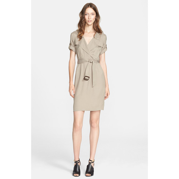 BURBERRY BRIT roll sleeve wrap front shirtdress - Trench-inspired details-a notch collar, double gunflaps and...