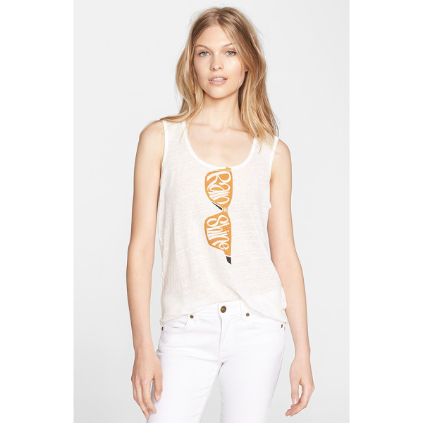 BURBERRY BRIT sunglasses screenprint tank - You're ready for anything (according to the playful...