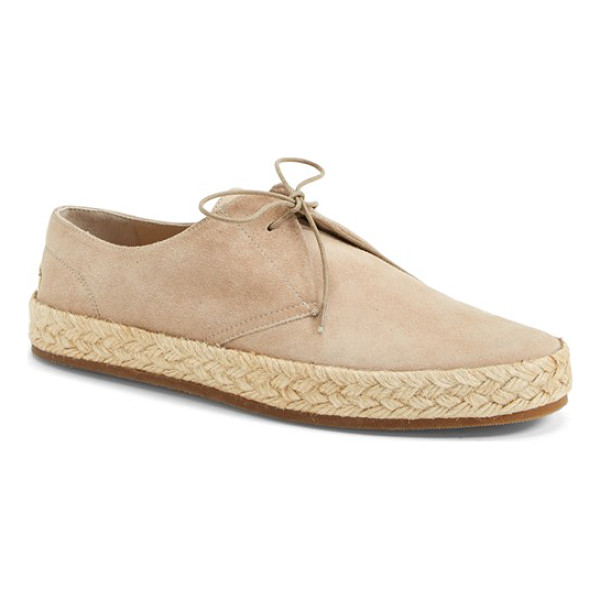 BURBERRY collingo espadrille - A jute-wrapped bumper sole lends summery appeal to an easy...