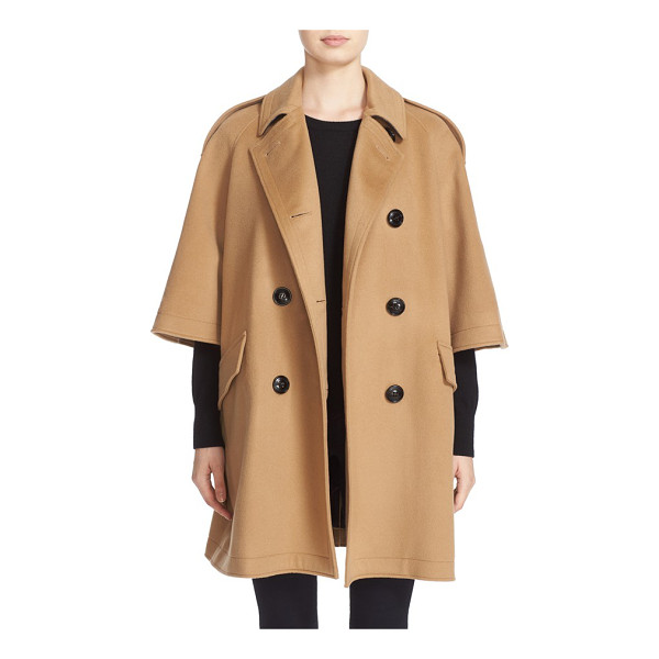 BURBERRY dennington trench cape coat - A modern take on Burberry's classic trench, this...