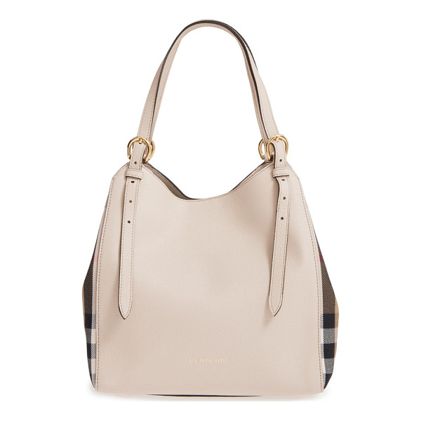 BURBERRY Derby canterbury house check shoulder tote - Inset side panels in Burberry's House check add a signature...