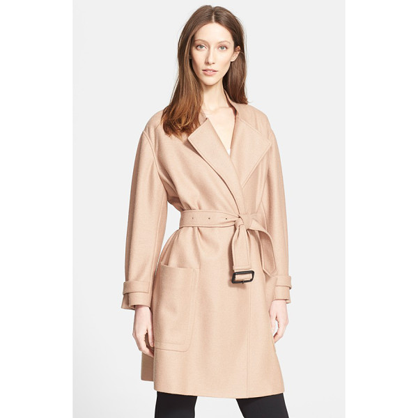 BURBERRY LONDON heronsby wool & cashmere wrap coat - The oversized silhouette of a delicately-hued wool and...