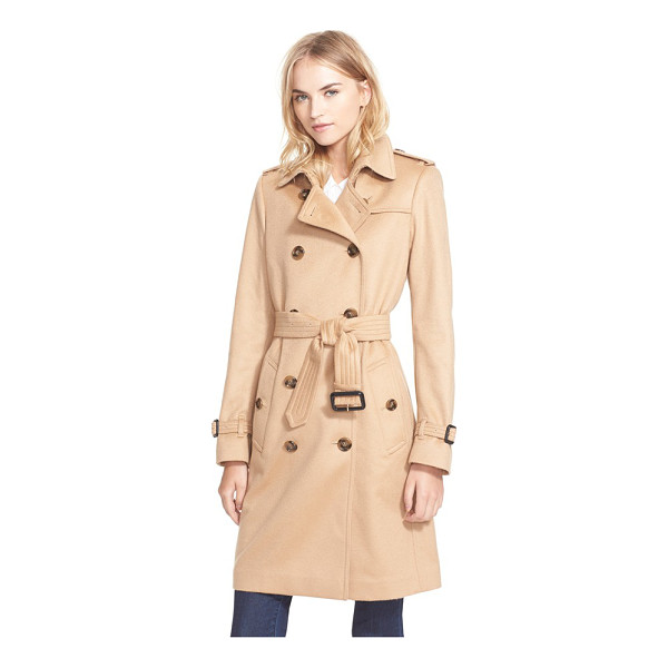 BURBERRY LONDON kensington double breasted cashmere trench coat - Crafted from exquisite Italian cashmere, a double-breasted...