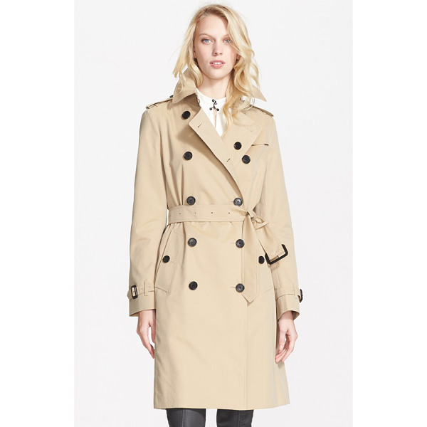 BURBERRY LONDON kensington double breasted trench coat - Classic trench styling-including storm flaps, epaulets and...