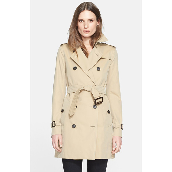 BURBERRY LONDON kensington mid trench coat - Classic trench styling-including storm flaps, epaulets and...