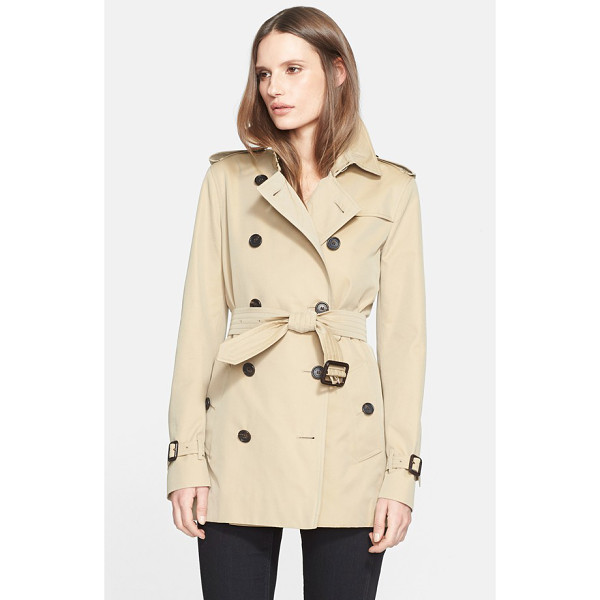 BURBERRY LONDON kensington short trench coat - Classic trench styling-including storm flaps, epaulets and...
