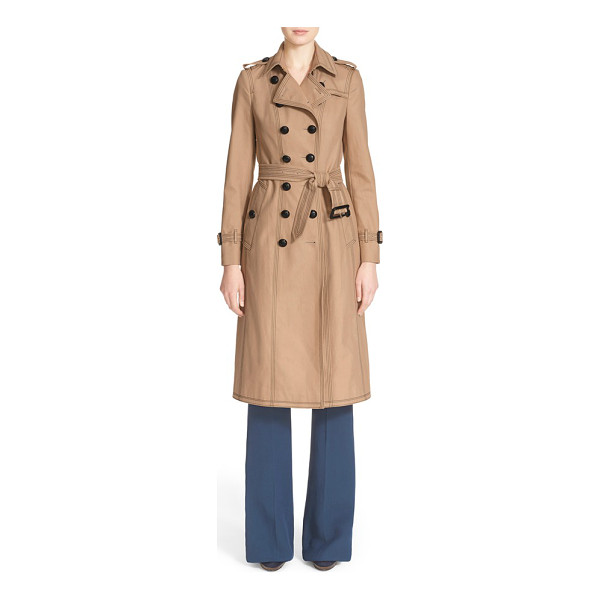 BURBERRY PRORSUM cotton gabardine slim trench coat - A new take on the iconic Burberry trench boasts...