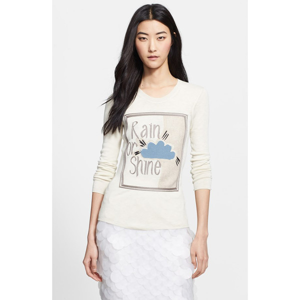 BURBERRY PRORSUM rain or shine embroidered sweater - A fine-gauge pullover made from an incredibly soft alpaca...