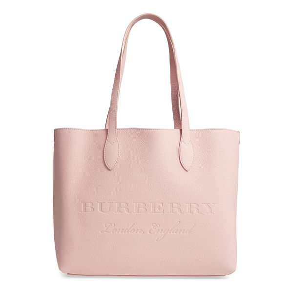 BURBERRY remington leather tote - Clean lines underscore the minimalist design of a spacious...