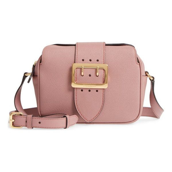 BURBERRY small buckle leather crossbody bag - Echoing a design element of Burberry's famed trench, a...