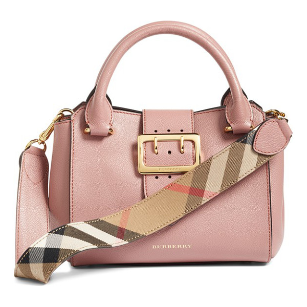 BURBERRY small buckle leather satchel - A small satchel makes a major style impact with oversized,...