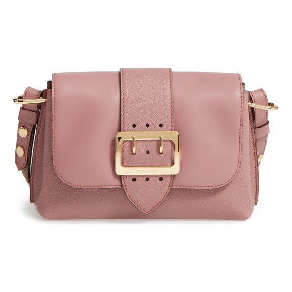 BURBERRY small medley leather shoulder bag - A gleaming goldtone buckle puts the polish on a...